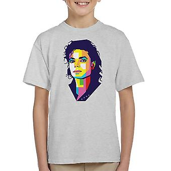 Geometric Celebrity Michael Jackson Kid's T-Shirt