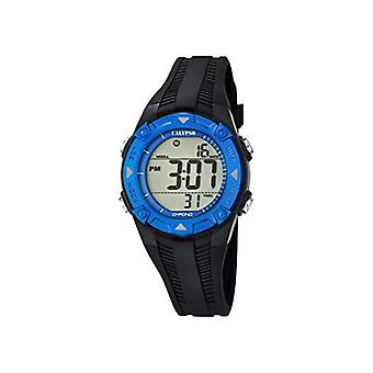 Calypso-Unisex digital watch with LCD Digital Display and plastic strapping, color: black, 1 K5685