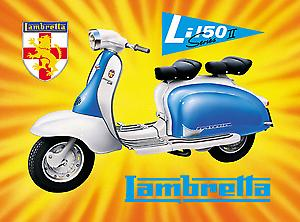Lambretta Li150 Steel Sign