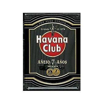 Cartão postal de metal de Havana Club Rum (preto) / mini sinal