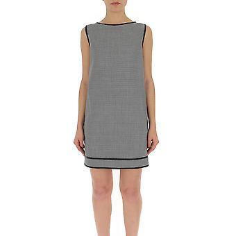 Dsquared2 White/black Wool Dress