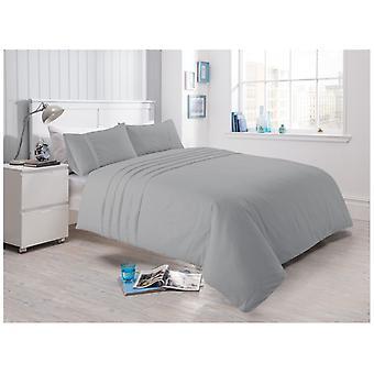 Laurent Pleated Cotton Rich Duvet Quilt Cover Percale Bedding Set All Sizes