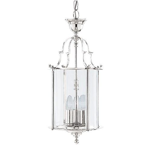 Searchlight 3003-10CC Modern Chrome Hall Lantern Pendant With Clear Bevelled Glass