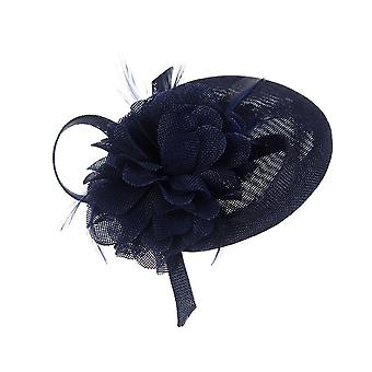 Intrigue Womens/Ladies Oval Linen Look Floral Fascinator Clip