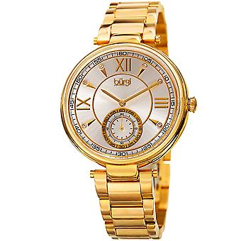 Burgi Women's Quartz Crystal Markers  Gold-Tone Bracelet Watch BUR175YG