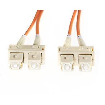 4Cabling 20M SC SC Om1 multimode Fiber Optic kabel oranje
