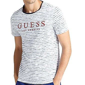 GUESS Striped Alden TShirt  White