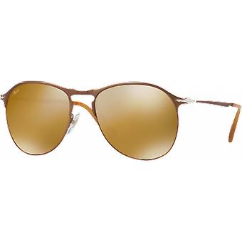 Persol 7649S Medium Brown gespiegelt braunes gold