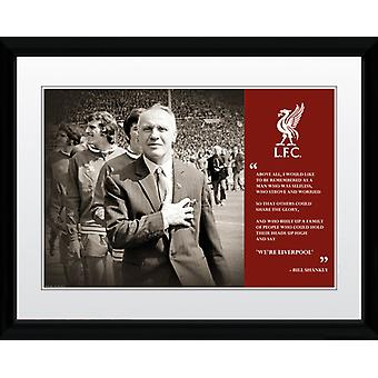 Liverpool Shankly Quote Framed Collector Print 40x30cm