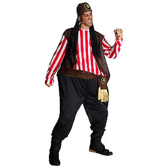 Jelly Roger Pirate Carribbean Captain Jack Sparrow Fat Funny Adult Mens Costume