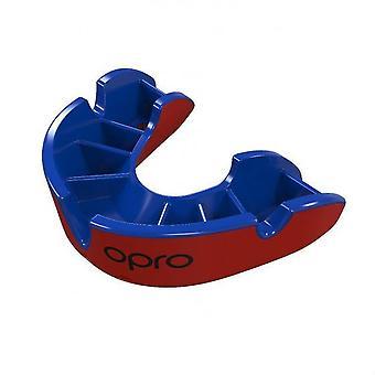 Opro Junior Silber Gen 4 Mund Guard rot/blau