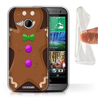 STUFF4 Gel/TPU Case/Cover for HTC One/1 Mini 2/Gingerbread Man/Christmas Character