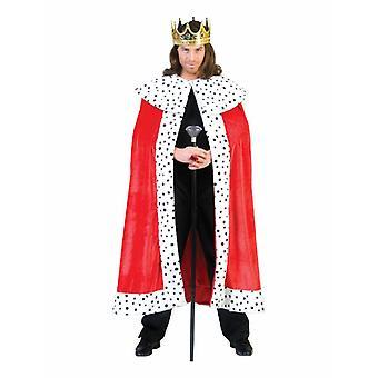King Ruler Men's Costume Emperor Cape Coronation Men's Costume