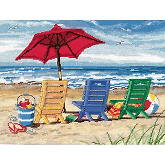 Beach Chair Trio Needlepoint Kit 16