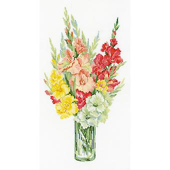 Bouquet Of Gladioli Counted Cross Stitch Kit-10.25
