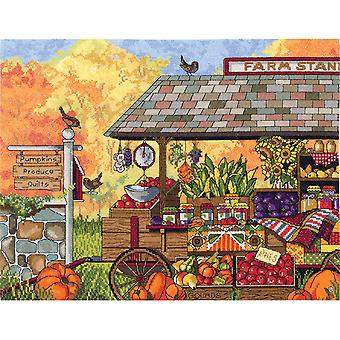 Buck's County Farm Stand Counted Cross Stitch Kit-16