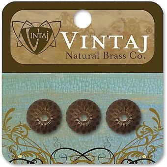 Vintaj Metal Bead Caps 3 Pkg Acorn 13Mm Bc0003r