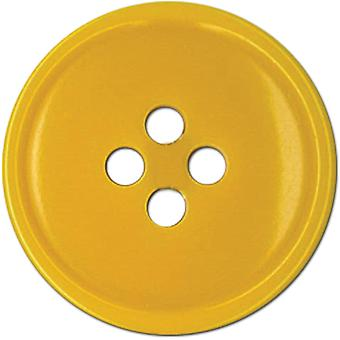 Slimline Buttons Series 1 Yellow 4 Hole 3 4