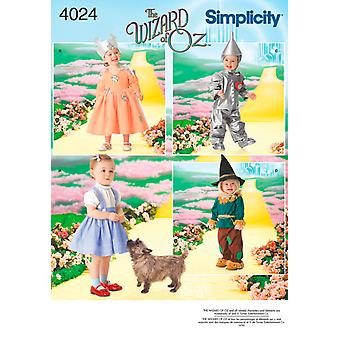 Simplicity Toddlers Costumes 1 2,1,2,3,4 U04024a