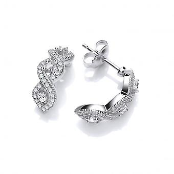 Cavendish French Curved CZ Half Hoop Earrings