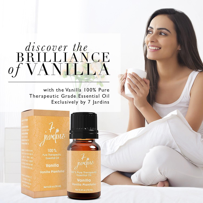 7 Jardins vanille terapeutiske Grade Essential Oil - Vanilla Planifolia (100% ren, naturlig, naturlig Antioxidant, antidepressiv, Tranquilizing & madlavning klasse)