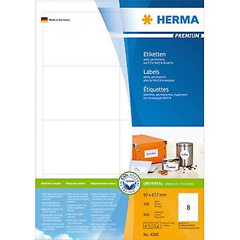Labels white 97x67 .7 Herma Premium A4 800 pcs.