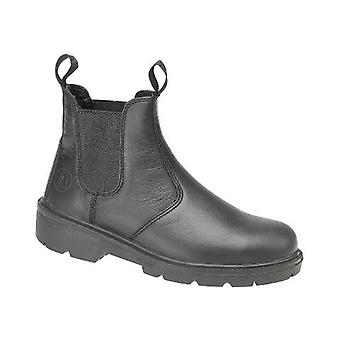 Amblers Steel FS116 Mens Pull On Dealers Boots Textile Leather Dual Density