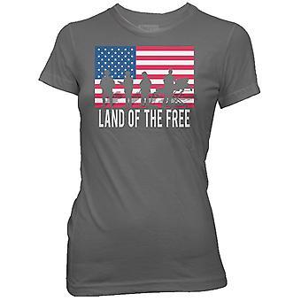 Ranger kvinders jord af den gratis T-Shirt-grå