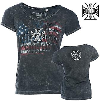 West Coast choppers ladies T-Shirt Patriot tee