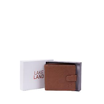 Burneside Leather Boxed Wallet in Cognac