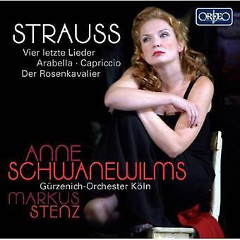 J. Strauss - Strauss: Vier Letzte Lieder; Arabella; Capriccio; Der Rosenkavalier [CD] USA importeren