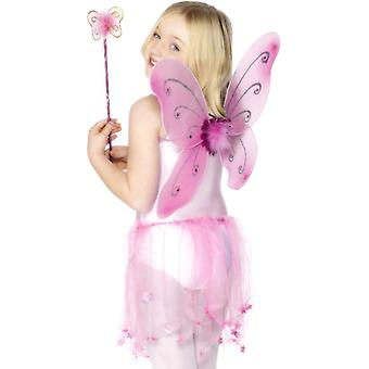 Child fairy wings fairy fairy fairy costume pink wings