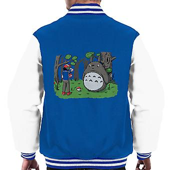 Forest Type Pokemon My Neighbor Totoro Men's Varsity Jacket