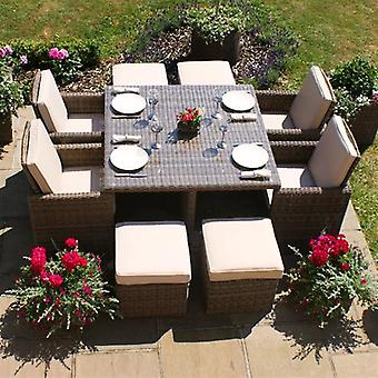 Maze Rattan Winchester 5 Piece Cube Set + Free Cover