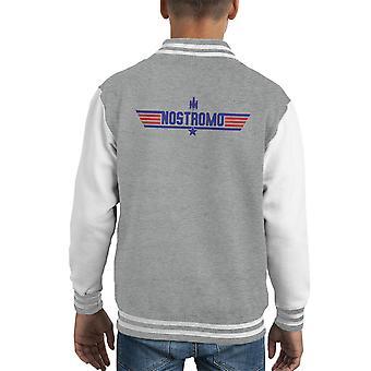 Superior Varsity Jacket del arma insignia Nostromo extranjeros cabrito