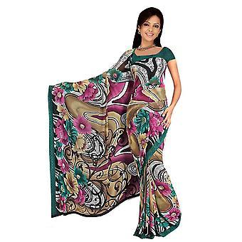 Tela de Deepa Georgette impresos Casual sari Sari Bellydance