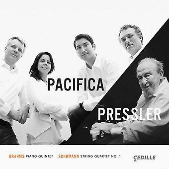 Brahms / Schumann / Pacifica kvartetten / Pressler - Brahms: klaver kvintet Op 34 / Schumann [CD] USA import