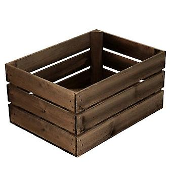 Large Rustic Wooden Crate Display - Distressed Finish