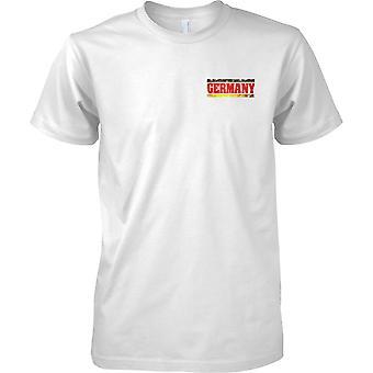 Efecto de bandera de Alemania Grunge país nombre - niños pecho diseño camiseta