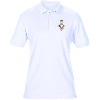 HMS Wales Embroidered Logo - Official Royal Navy Mens Polo Shirt