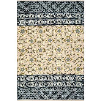 Boyd Ivory & blå Damask tæppe - Safavieh