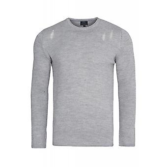 CARISMA knit sweaters men's grey slim fit knit pullover