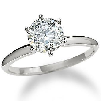 2 1/2ct Round Diamond Solitaire Engagement Ring 14K White Gold