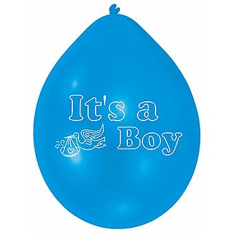 Amscan Its A Boy/Girl Multicoloured Stork Design Party Balloons (Pack Of 10)