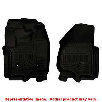 Husky Liners 18701 Black WeatherBeater Front Floor Line FITS:FORD 2012 - 2014 F