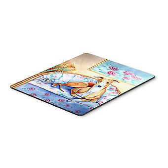 Carolines Treasures  7081MP Whippet waiting on Mom Mouse Pad, Hot Pad or Trivet