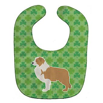 Carolines Treasures  BB6427BIB Red Border Collie Shamrocks  Baby Bib