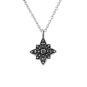 Star - 925 Sterling Silver Jewelled Necklaces - W30455x
