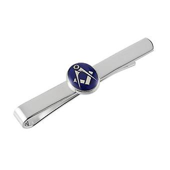 Woodford Masonic Tie Slide - Silver/Blue