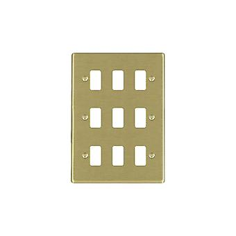 Hamilton Litestat Hartland Satin Brass 9g Apert Gridfix Plate+Grid